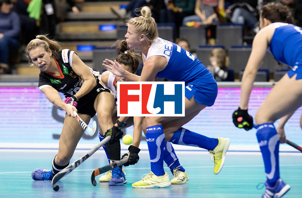 BERLIN - Indoor Hockey World Cup<br /> Women: Germany - Namibia<br /> foto: Anne Schroeder.<br /> WORLDSPORTPICS COPYRIGHT FRANK UIJLENBROEK