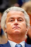 DEN HAAG - ppv Geert Wilders in de tweede kamer tijdens het vragenuurtje DEN HAAG - Geert Wilders (PVV) tijdens het eerste vragenuur in de Tweede Kamer na het zomerreces.  ROBIN UTRECHT