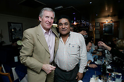 Billy McNeil with Eusebio at Giotto's, Clarkston.<br /> &copy;2007 Michael Schofield. All Rights Reserved.