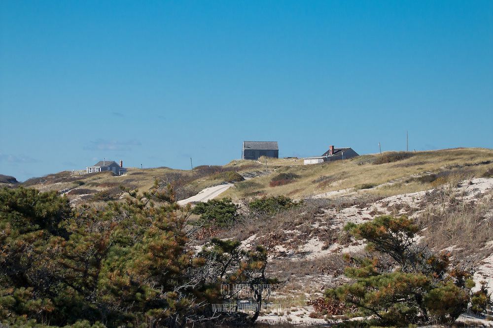 Three of the nineteen shacks scattered through the  Peaked Hill Bars Historic District , a portion of the Provincelands area of the Cape Cod National Seashore.