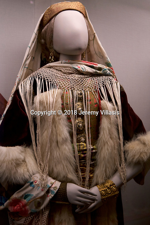 Bridal costume of Kastelorizo, Dodecanese. Benaki Museum, Athens.
