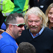 London, England, UK. 28 April 2019. Richard Branson attend the Virgin Money London Marathon at Pall Mall.