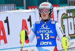 28.12.2017, Hochstein, Lienz, AUT, FIS Weltcup Ski Alpin, Lienz, Slalom, Damen, 2. Lauf, im Bild Melanie Meillard (SUI) // Melanie Meillard of Switzerland reacts after her 2nd run of ladie's Slalom of FIS ski alpine world cup at the Hochstein in Lienz, Austria on 2017/12/28. EXPA Pictures © 2017, PhotoCredit: EXPA/ Erich Spiess