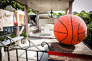 Philippines, Manila. Tomb of the basketball player at the Chinese Cemetery.
