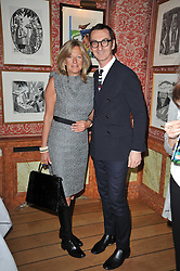 PRINCESS CHANTAL OF HANOVER and BRUNO FRISONI at a lunch hosted by Roger Viver in honour of Bruno Frisoni their creative director, held at Harry's Bar, 26 South Audley Street, London on 31st March 2011.