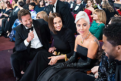 Bradley Cooper (L), Irina Shayk (2nd from left), Lady Gaga (3rd from left) and Chadwick Boseman during the live ABC Telecast of The 91st Oscars® at the Dolby® Theatre in Hollywood, CA on Sunday, February 24, 2019.