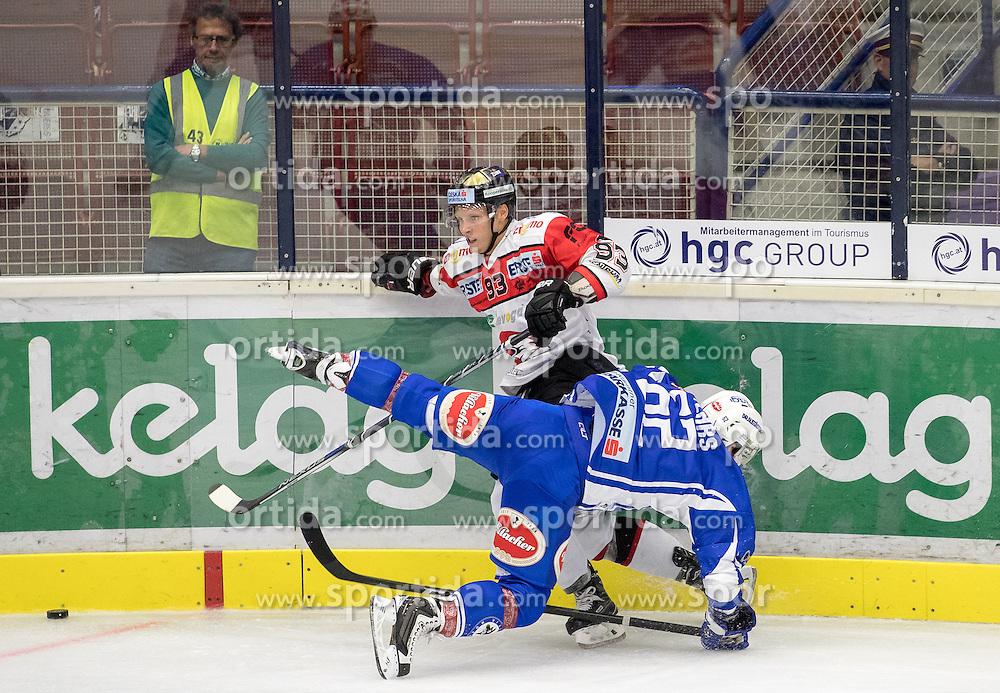 18.09.2016, Stadthalle, Villach, AUT, EBEL, EC VSV vs HC Orli Znojmo, 2. Runde, im Bild v.l. Marek Spacek (Znojmo), Kevin Wehrs (EC VSV) // during the Erste Bank Icehockey League 2nd Round match between EC VSV vs HC Orli Znojmo at the Stadthalle in Villach, Austria on 2016/09/18. EXPA Pictures © 2016, PhotoCredit: EXPA/ Johann Groder