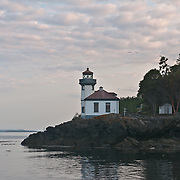 Lime Kiln park and lighthouse on San Juan Island, Washington.  Photo by William Byrne Drumm.