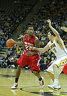 January 04 2010: Ohio State Buckeyes guard/forward David Lighty (23) works against Iowa Hawkeyes forward Zach McCabe (15) during the second half of an NCAA college basketball game at Carver-Hawkeye Arena in Iowa City, Iowa on January 04, 2010. Ohio State defeated Iowa 73-68.