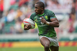 May 21, 2016 - London, Britain - South Africa's Siviwe Soyizwapi in action at the rugby tournament in London,Britain, 21 May 2016. Photo:Juergen Kessler/dpa - NO WIRE SERVICE  (Credit Image: © JüRgen KeßLer/DPA via ZUMA Press)