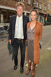 TIM HANBURY and the MARCHIONESS OF WORCESTER at a private view of photographs by Jolyon Fenwick 'The Zero Hours Panoramas' 100 Years On: Views From The Parapet of The Somme held at Sladmore Contemporary, 32 Bruton Place, London on 30th June 2016.