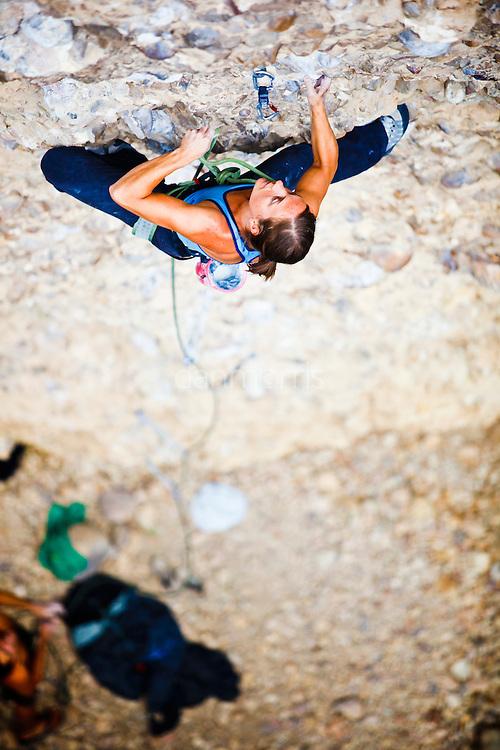 Jenna Johnson on Popcorn, 5.12-. Craganmore, Maple Canyon, Utah