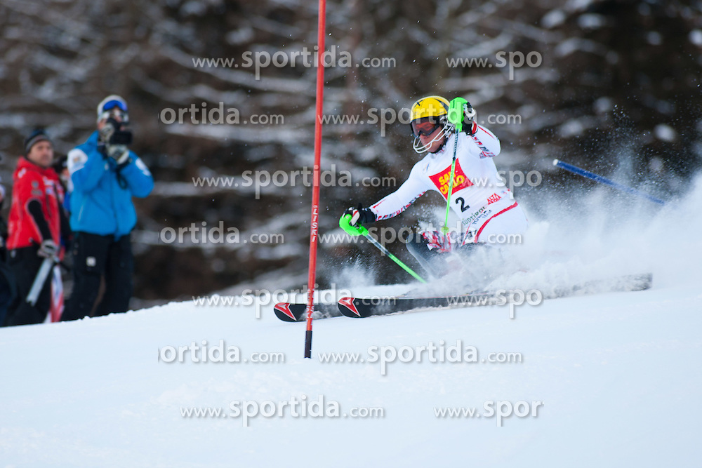 19.12.2011, Gran Risa, Alta Badia, ITA, FIS Weltcup Ski Alpin, Herren, Slalom 1. Durchgang, im Bild Marcel Hirscher (AUT) // Marcel Hirscher of Austria during men's giant Slalom 1st run at FIS Ski Alpine Worldcup at Gran Risa in Alta Badia, Italy on 2011/12/19. EXPA Pictures © 2011, PhotoCredit: EXPA/ Johann Groder