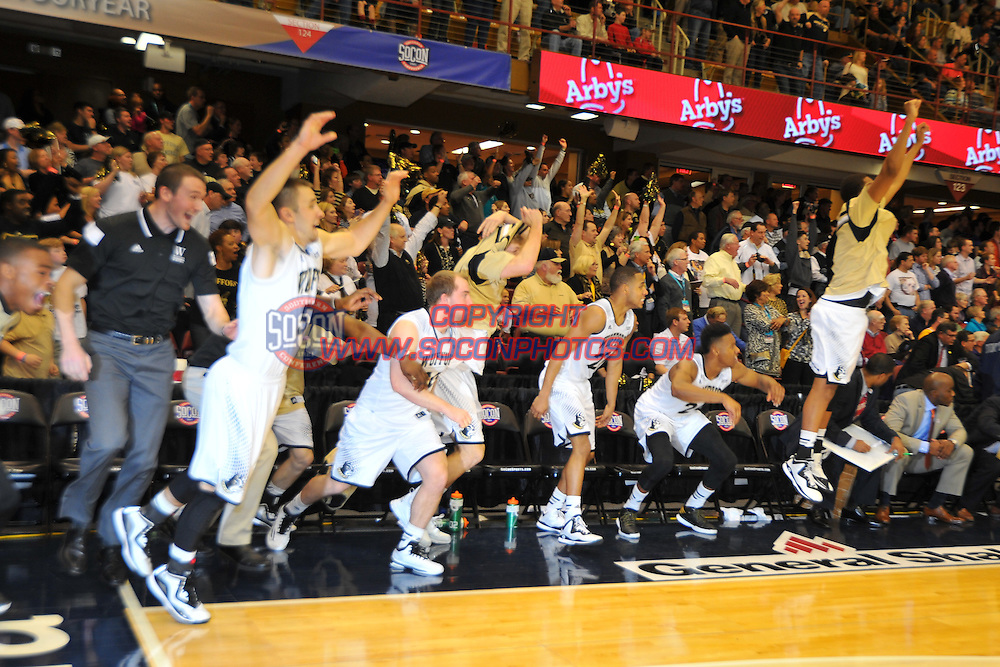 The Southern Conference hosted their 2015 Basketball Championship in Asheville, North Carolina. FU, Wofford. Credit: Todd Drexler/SoConPhotos.com
