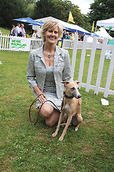 LINDKA CIERACH and her dog Zaffy at the Macmillan Dog Day in aid of Macmillan Cancer Support held at the Royal Hospital Chelsea, London on 8th July 2008.<br />
