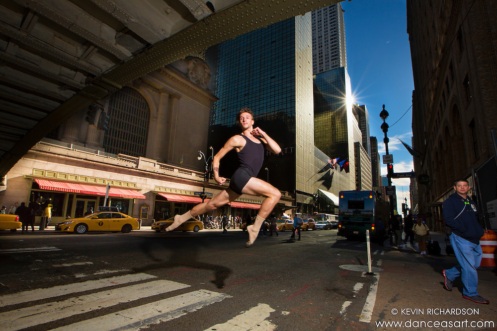 Crossing 42nd Street Dance As Art- The New York Photography Project featuring dancer Andy Jacobs.