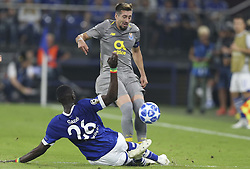 September 18, 2018 - Na - Gelsenkirchen, 18/09/2018 - Fc Schalke 04 received the Fc Porto tonight at the Veltins Arena in the first leg of Group D of the Champions League 2018/19. Embolo, Herrera  (Credit Image: © Atlantico Press via ZUMA Wire)