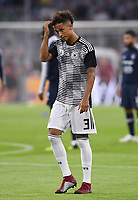 FUSSBALL UEFA Nations League in Muenchen Deutschland - Frankreich       06.09.2018 Thilo Kehrer (Deutschland) beim Aufwaermen  --- DFB regulations prohibit any use of photographs as image sequences and/or quasi-video. ---