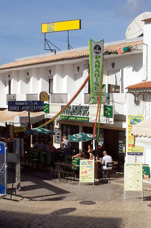 The tourist resort of Albufeira on the Algarve, Portugal