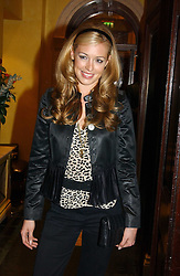 CAT DEELEY at a party hosted by jewellers Adler to celebrate 20 years in London held at 5 Cavendish Square, London on 4th May 2005.<br />
