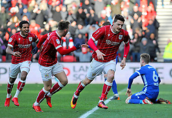 Milan Djuric of Bristol City scores a goal making it 1-0- - Mandatory by-line: Nizaam Jones/JMP - 17/03/2018 - FOOTBALL - Ashton Gate Stadium- Bristol, England - Bristol City v Ipswich Town - Sky Bet Championship