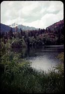 View of a pond with San Juan Mountains behind.  If you can identify this scene, please tell us.