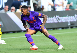 July 22, 2018 - Charlotte, NC, U.S. - CHARLOTTE, NC - JULY 22: Liverpool defender Nathaniel Clyne (2) plays during an International Champions Cup match between LiverPool FC and Borussia Dortmund on July 22 2018 at Bank Of America Stadium in Charlotte,NC.(Photo by Dannie Walls/Icon Sportswire) (Credit Image: © Dannie Walls/Icon SMI via ZUMA Press)