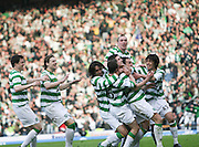 during the League Cup final between Rangers and Celtic at Hampden Park -<br /> David Young Universal News And Sport