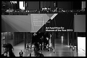 The £100,000 Art Fund Prize for the Museum of the Year,   Tate Modern, London. 1 July 2015