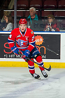KELOWNA, BC - MARCH 13: Ty Smith #24 of the Spokane Chiefs warms up on the ice against the Kelowna Rockets at Prospera Place on March 13, 2019 in Kelowna, Canada. (Photo by Marissa Baecker/Getty Images)
