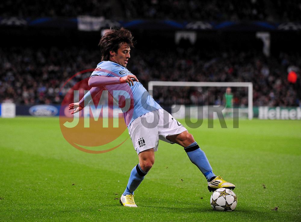 Manchester City's David Silva - Photo mandatory by-line: Joe Meredith/JMP  - Tel: Mobile:07966 386802 03/10/2012 - Manchester City v Borussia Dortmund - SPORT - FOOTBALL - Champions League -  Manchester   - Etihad Stadium -