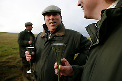 UK ENGLAND GRANTHAM 15DEC11 - The guns enjoy a drink and a chat during a break in the pheasant shooting at the  Belvoir Castle Estate in Leicestershire, England...jre/Photo by Jiri Rezac..© Jiri Rezac 2011