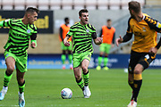 Forest Green Rovers Kevin Dawson(18) on the ball during the EFL Sky Bet League 2 match between Cambridge United and Forest Green Rovers at the Cambs Glass Stadium, Cambridge, England on 7 September 2019.