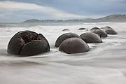 Moeraki Boulders, sunrise, New Zealand