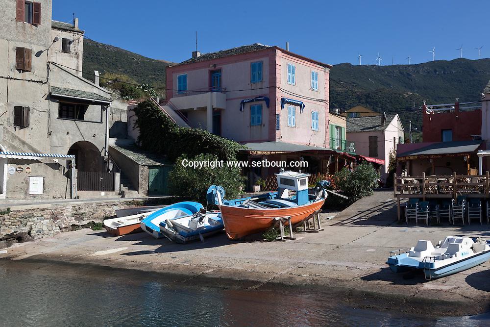Corsica. France. Century, fishermen port  in Cap Corse, Corsica North, France / Century port de peche  du cap Corse