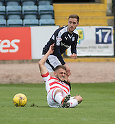 Dundee&rsquo;s Nick Ross and Hamilton&rsquo;s Gramoz Kurtaj - Dundee v Hamilton Academical, Ladbrokes Scottish Premiership at Dens Park<br /> <br />  - &copy; David Young - www.davidyoungphoto.co.uk - email: davidyoungphoto@gmail.com
