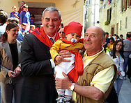 Gubbio 15 MAY 2006..Festival of the Ceri..The party before the run...Ronald P. Spogli  in as U.S. Ambassador to Italy....http://www.ceri.it/ceri_eng/index.htm..