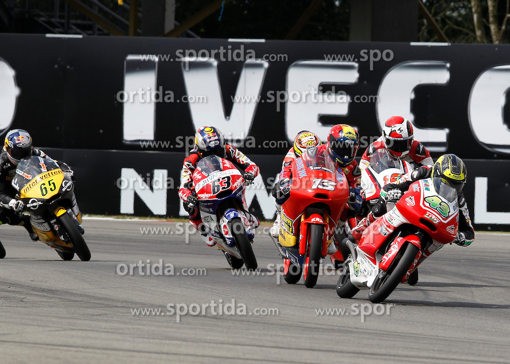 28.06.2014, TT Circuit, Assen, NED, MotoGP, Assen, im Bild 84 Jakub Kornfeil, 43 Luca Gr?nwald, 13 Jasper Iwema // during the MotoGP Iveco TT Assen at the TT Circuit in Assen, Netherlands on 2014/06/28. EXPA Pictures &copy; 2014, PhotoCredit: EXPA/ Eibner-Pressefoto/ FOTO-SPO_AG<br /> <br /> *****ATTENTION - OUT of GER*****