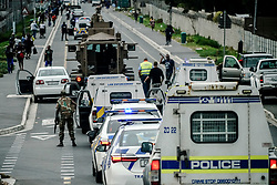 Police Operations and Essential Services Personnel operating under lockdown period in Fish Hoek and Masipumelela in the Cape Peninsula, near Cape Town, Western Cape, South Africa, RSA
