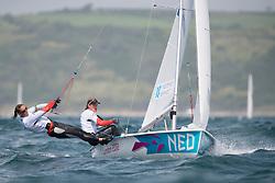 2012 Olympic Games London / Weymouth<br /> Berkhout Lobke, Westerhof Lisa, (NED, 470 Women)
