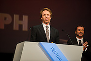 Prince Albert II of Monaco gives a special award to Jerry Bruckheimer during the opening ceremony of the 54th Monte-Carlo Television Festival at Grimaldi Forum on June 7, 2014 in Monte-Carlo, Monaco