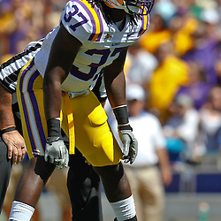 October 1, 2011; Baton Rouge, LA, USA;  LSU Tigers linebacker Karnell Hatcher (37) against the Kentucky Wildcats during the first half at Tiger Stadium.  Mandatory Credit: Derick E. Hingle-US PRESSWIRE / © Derick E. Hingle 2011