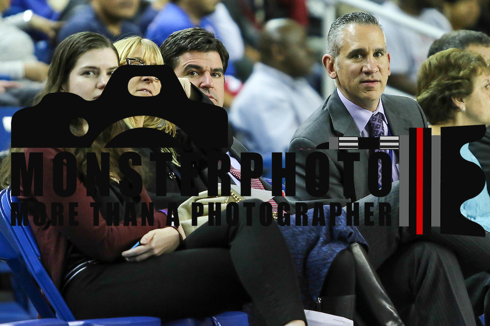 File Photo - Delaware 87ers Chief Operating Officer LARRY MELI  sits court side with in the first half of a NBA D-league regular season basketball game between the Delaware 87ers (76ers) and the Sioux Falls Skyforce (Miami Heat) Tuesday, Dec. 2, 2014 at The Bob Carpenter Sports Convocation Center in Newark, DEL.<br /> <br /> Delaware 87ers Chief Operating Officer LARRY MELI was appointed as team President, effective immediately on Tuesday, Feb. 2, 2016.<br /> <br /> Photo By Saquan Stimpson