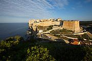 Bonifacio's Ville Haute on top of the chalky limestone cliffs.