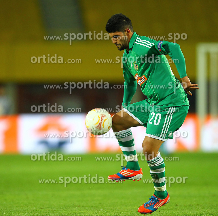 20.09.2012, Ernst Happel Stadion, Wien, AUT, UEFA Europa League, SK Rapid Wien vs Rosenborg Trondheim, Gruppe K, im Bild Muhammed Ildiz (SK Rapid Wien, #20)// during the UEFA Europa League group K match between SK Rapid Vienna and Rosenborg Trondheim at the Ernst Happel Stadion, Vienna, Austria on 2012/09/20. EXPA Pictures © 2012, PhotoCredit: EXPA/ Patrick Leuk
