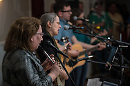 "members of ""The River Drivers"" pack the house for their CD release party at Ancient Order of the Hibernian in Bristol, Pa, Saturday, April 4, 2015. Photo by Bryan Woolston."