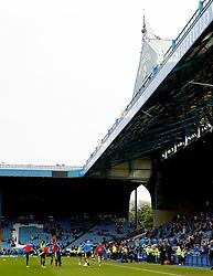 A general view as Huddersfield Town players warm up - Mandatory by-line: Matt McNulty/JMP - 17/05/2017 - FOOTBALL - Hillsborough - Sheffield, England - Sheffield Wednesday v Huddersfield Town - Sky Bet Championship Play-off Semi-Final 2nd Leg