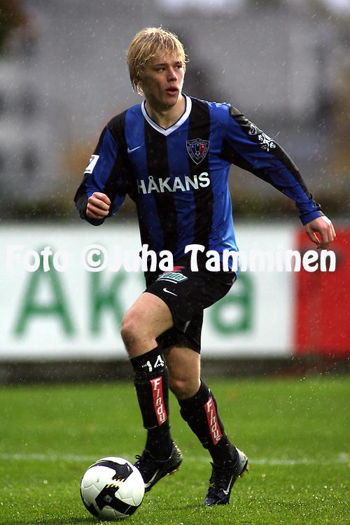 05.10.2008, Veritas stadion, Turku, Finland..Veikkausliiga 2008 - Finnish League 2008.FC Inter Turku - FC Honka.Joni Aho - Inter.©Juha Tamminen.....ARK:k