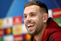 Liverpool's Jordan Henderson during the press conference at Anfield, Liverpool.
