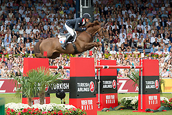 iDelestre Simon, (FRA), Ryan Des Hayettes<br /> Individual Final Competition round <br /> FEI European Championships - Aachen 2015<br /> © Hippo Foto - Jon Stroud<br /> 23/08/15